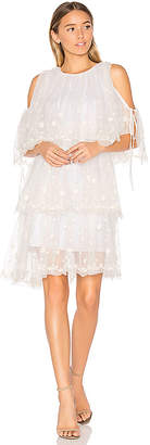 Needle & Thread Embroidered Tulle Dress in White $399 thestylecure.com