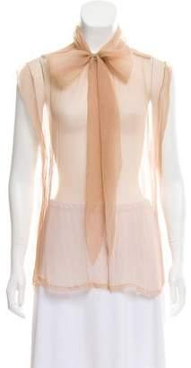Marc Jacobs Semi-Sheer Cap Sleeve Top