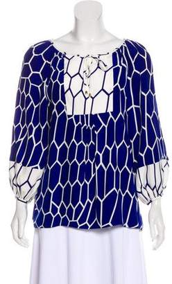 Alice & Trixie Silk Patterned Blouse w/ Tags