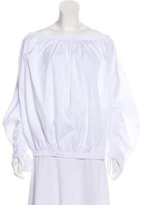 Roksanda Off-The-Shoulder Lon Sleeve Top