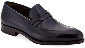 Salvatore Ferragamo Men's Backer Braided Leather Loafer