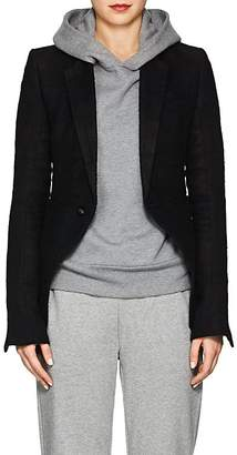 Rick Owens Women's Classic Linen-Camel Hair Short One-Button Blazer