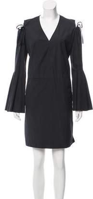 Derek Lam Cold-Shoulder Mini Dress