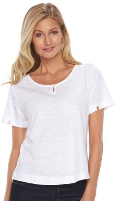 Women's Woolrich Bell Canyon Keyhole Tee $39 thestylecure.com