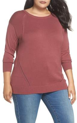 Caslon Button Back Tunic Sweater