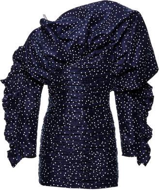 Magda Butrym Trani Polka Dot Taffeta Cold-Shoulder Mini Dress Size: 36