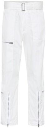Helmut Lang High-rise cotton-blend pants
