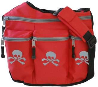Diaper Dude Skulls Diaper bag (Red)