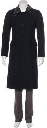J.W.Anderson Studded Wool Overcoat