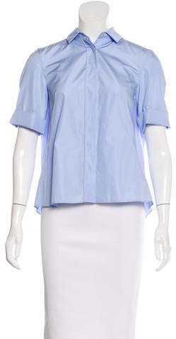 Akris Punto Akris Punto Short Sleeve Button-Up Top