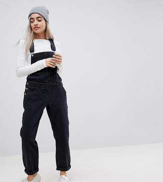 b9db9c2228 Asos DESIGN Petite denim dungaree in washed black