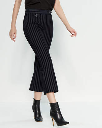 Derek Lam 10 Crosby Striped Flare Leg Crop Trousers