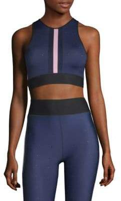 Ultracor Quilt Line Front Stripe Crop Top