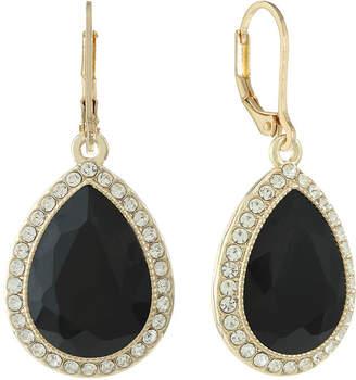 MONET JEWELRY Monet Jewelry Black Drop Earrings