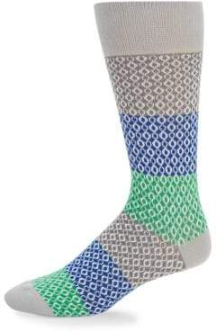 Saks Fifth Avenue Chain Rows Crew Socks