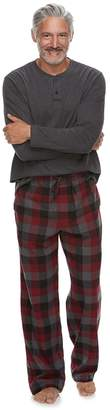 Croft & Barrow Men's Henley & Plaid Flannel Lounge Pants Gift Set
