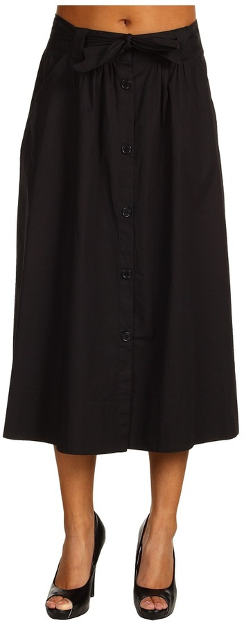 Kenneth Cole New York - Cotton Poplin Midi Skirt