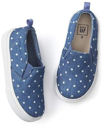 Gap Dotty chambray slip-on sneakers