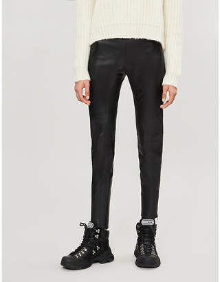 SHOREDITCH SKI CLUB Raven high-rise skinny leather trousers