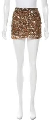Haute Hippie Sequin-Accented Silk Skirt