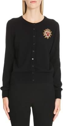 Dolce & Gabbana Sacred Heart Embellished Cashmere Cardigan