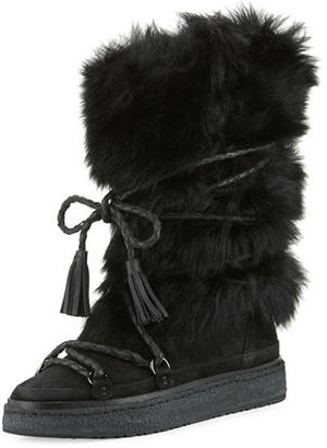 Frye Gail Shearling Fur Tall Boot, Black $548 thestylecure.com