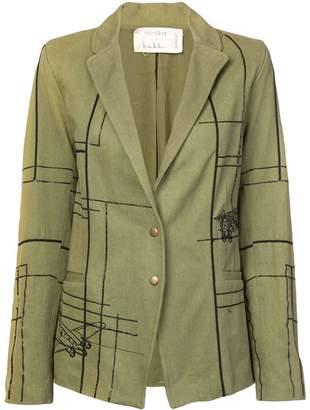 Nicole Miller blueprint embellished blazer