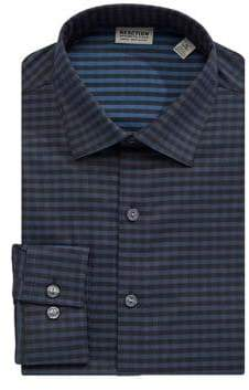 Kenneth Cole Reaction Long Sleeve Print Button-Down Shirt