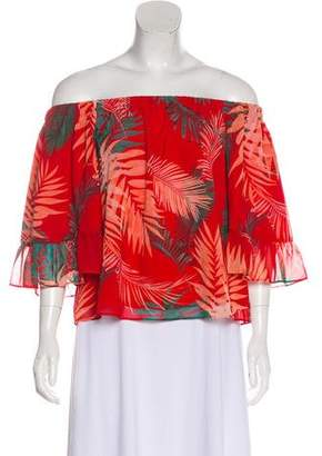 Rebecca Minkoff Printed Off-The-Shoulder Top