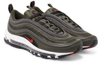 Nike Air Max 97 Faux Leather And Mesh Sneakers - Green