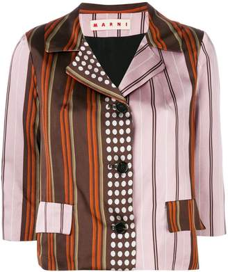 Marni contrast stripe jacket