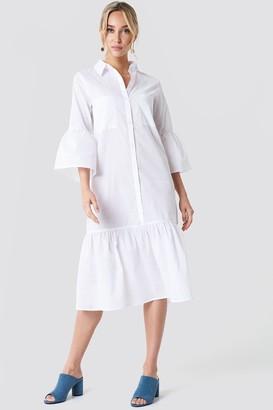 Na Kd Trend Bell Sleeve Shirt Dress