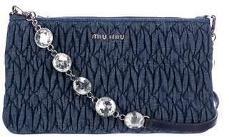Miu Miu Denim Crystal Crossbody Bag