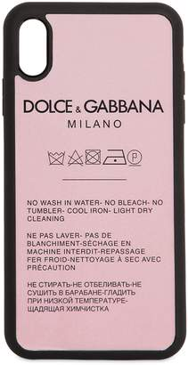 Dolce & Gabbana Laundry Label Print Iphone X Case