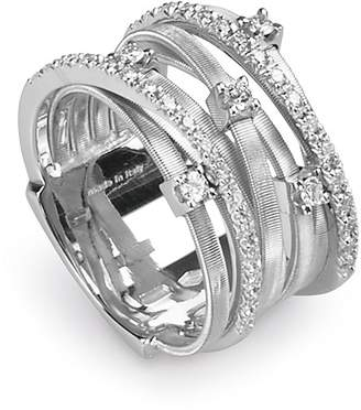 "Marco Bicego Goa"" 18K White Gold and Diamond Ring, 0.4 ct."