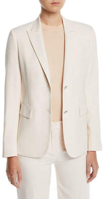 Loro Piana Silk-Wool Single-Breasted Blazer