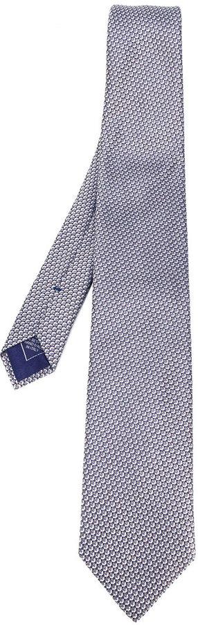 BrioniBrioni geometric micro-design pattern tie