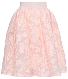 Maje Fil Coupé Flared Skirt