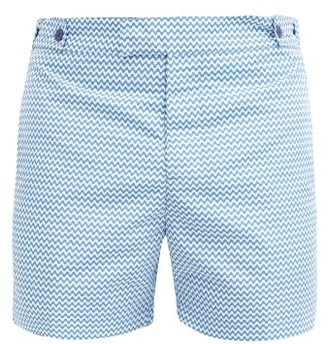 Frescobol Carioca - Copacabana Tailored Swim Shorts - Mens - Blue
