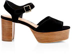 Soludos Women's Avra Suede Ankle Strap Platform Sandals