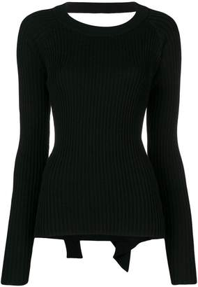 Diesel open back knitted top
