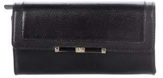 Diane von Furstenberg Leather Flap Wallet