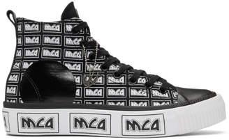 McQ Black Metal Logo Platform High-Top Sneakers