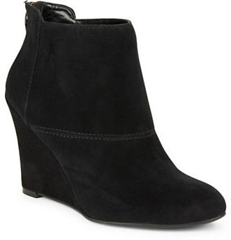 Nine West Nine West Optimistic Suede Wedge Ankle Boots