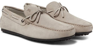 Tod's City Gommino Suede Driving Shoes