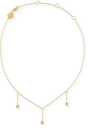 Jennifer Zeuner Jewelry Carmen Chain Drop Choker Necklace with Diamonds