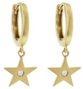 Andrea Fohrman Diamond Star Drop Earrings - Yellow Gold