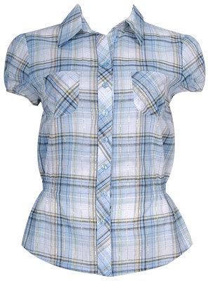 Metallic Plaid Shirt