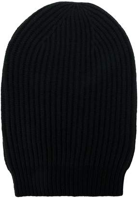 Rick Owens ribbed beanie hat