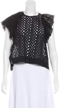 Isabel Marant Crochet Ruffle Top